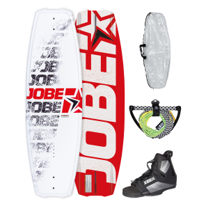 Jobe Logo Series Red 138 Wakeboard Package-STAND